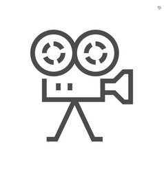 Film production camcorder icon design 48x48 vector