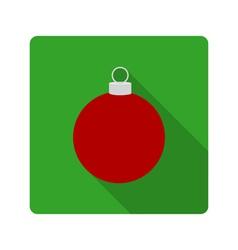 flat icon Christmas ball vector image