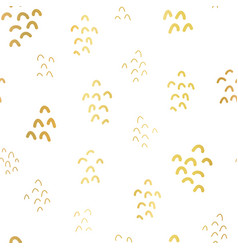 gold foil shapes seamless background white vector image
