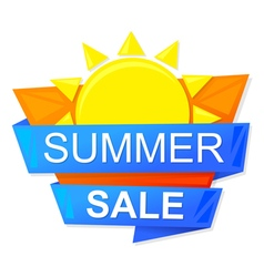 graphic summer sale vector image
