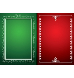 green and red backgrounds with white frames vector image