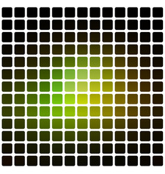 Green brown yellow black rounded mosaic vector