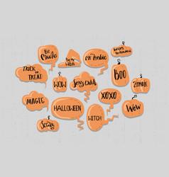 happy halloween comic speech bubble for text vector image