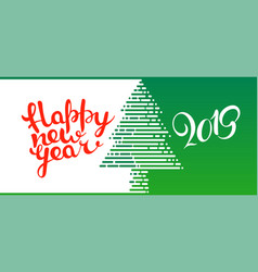 happy new 2019 year concept vector image