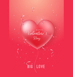 happy valentines day design for brochure flyer vector image