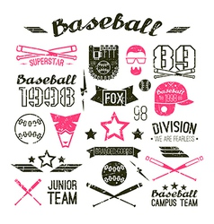 Icons Baseball campus team vector