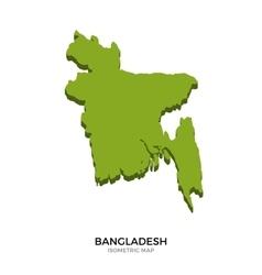 Isometric map bangladesh detailed vector
