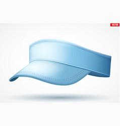 Layouts tennis cap visor vector