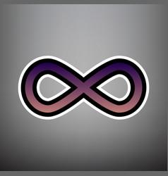 limitless symbol violet vector image