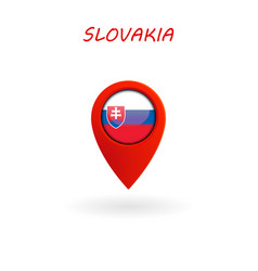 location icon for slovakia flag eps file vector image
