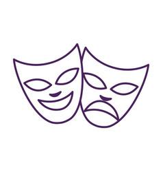 Mardi gras theater faces celebration masks vector