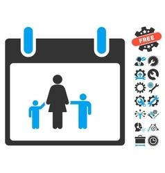 Mother Calendar Day Icon With Bonus vector