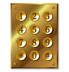 number code keyboard vector image