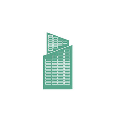 office building isolated city architecture sign vector image