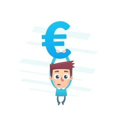 On the brink of bankruptcy vector image