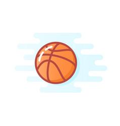 orange basketball ball vector image
