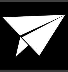 paper airplane it is the white color icon vector image