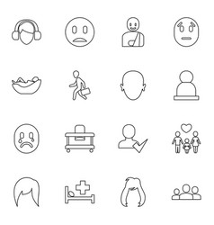 person icons vector image