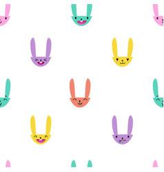 Rabbit emoticons pattern-08 vector