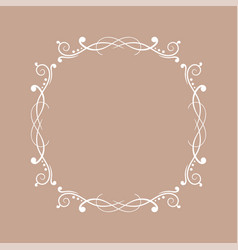 round white floral ornament on beige background vector image