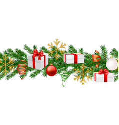 seamless christmas and new year background vector image