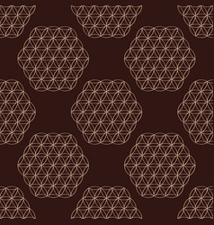 Seamless pattern with symbol flower life vector