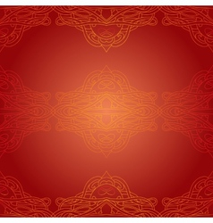 Seamless red ethnic pattern vector image