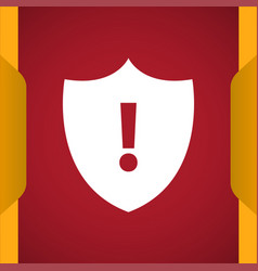Security alert icon for web and mobile vector