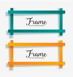 set of empty geometric frame banner vector image