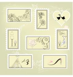 set of mark vector image