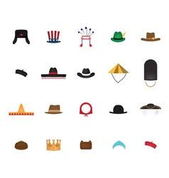 Set of nation hat vector