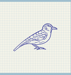 simple drawing sparrow vector image