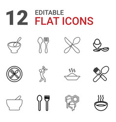 Spoon icons vector