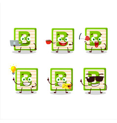Toy block b cartoon with various types business vector