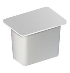 traditional yogurt box mockup realistic style vector image