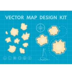 Treasure Map Generator vector