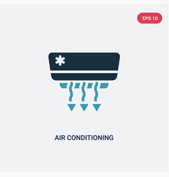two color air conditioning icon from tools and vector image