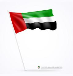 united arab emirates flag design banner vector image