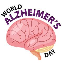 world alzheimers day logo vector image