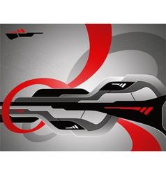 Abstract futuristic 3d design vector image