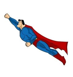 Flying Superhero Icon action vector image