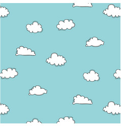 hand drawn clouds pattern vector image