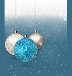 happy new year and merry christmas winter vector image