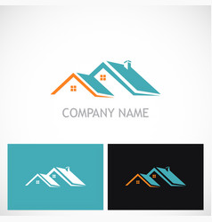 house roof realty company logo vector image