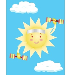 sun does body exercises vector image