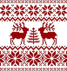 Christmas norwegian pattern vector