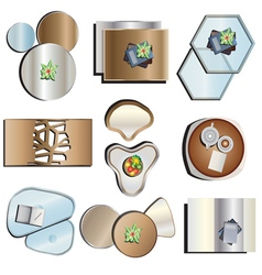 Coffee table top view set 2 vector image vector image