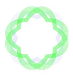 Decorative Circle Wave Frame vector image