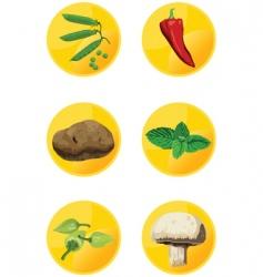 icon veggies vector image vector image