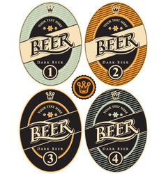 label of beer vector image